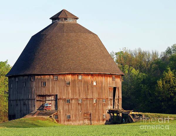 Wall Art - Photograph - Dana, Indiana Round Barn 2 by Steve Gass