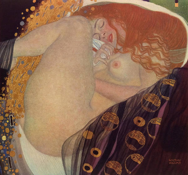 Wall Art - Painting - Danae, 1907 by Gustav Klimt