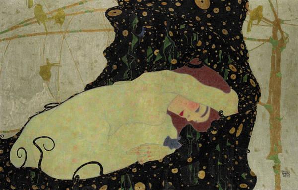 Wall Art - Painting - Danae, 1909 by Egon Schiele