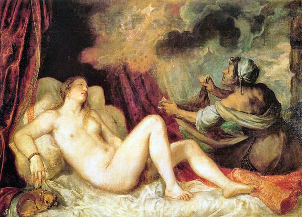 Painting - Danae by Ttian 1488-1576