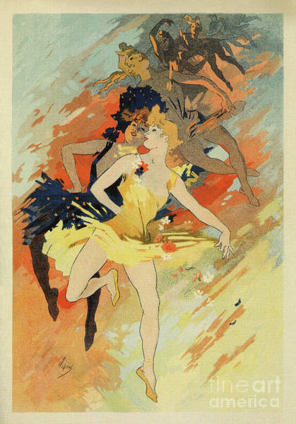 Drawing - Dance Ballet By Cheret by Aapshop