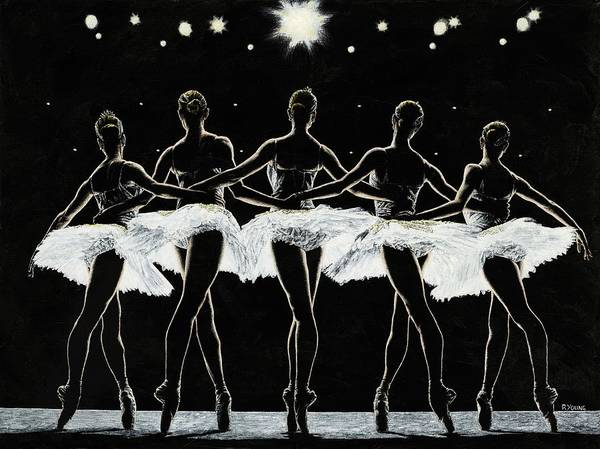 Wall Art - Painting - Dance Finale by Richard Young