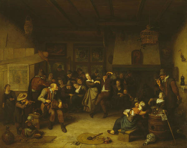 Painting - Dance In A Cottage by Richard Brakenburgh