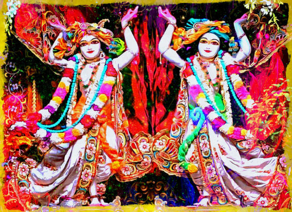 Digital Art - Dance Of Radha And Krishna by Bliss Of Art