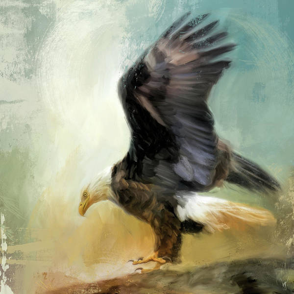Painting - Dance Of The Bald Eagle by Jai Johnson