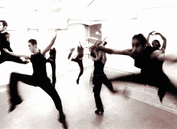 Photograph - Dance Troupe Practicing In Dance Studio by Ade Groom
