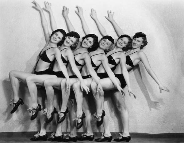 Showgirl Photograph - Dance Troupe by Sasha