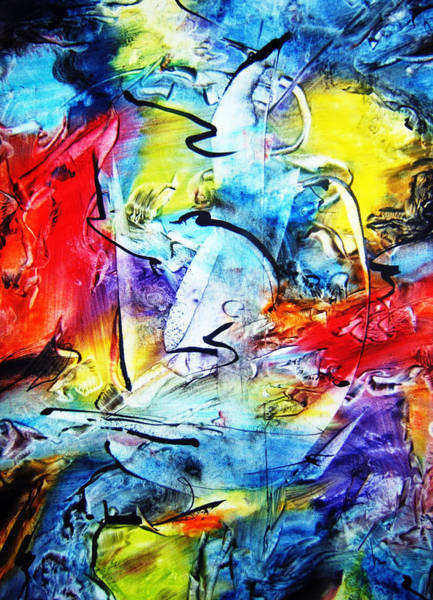Wall Art - Painting - Dance With Colors by Davidian Gotis