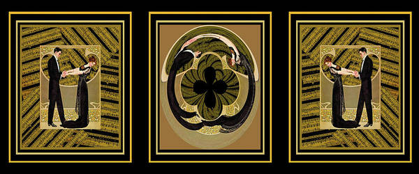 Romance Wall Art - Mixed Media - Dance With Me Trio by Paula Ayers