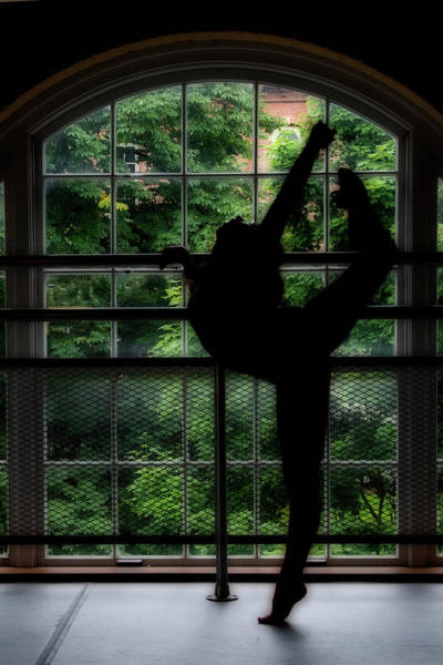 Photograph - Dancer Move In Front Of Curved Window by Dan Friend