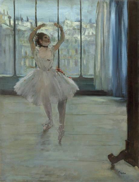 Wall Art - Painting - Dancer Posing For A Photographer by Edgar Degas