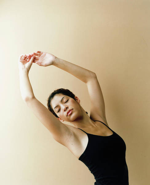 Human Limb Photograph - Dancer With Arms Raised by Lisa Spindler Photography Inc.