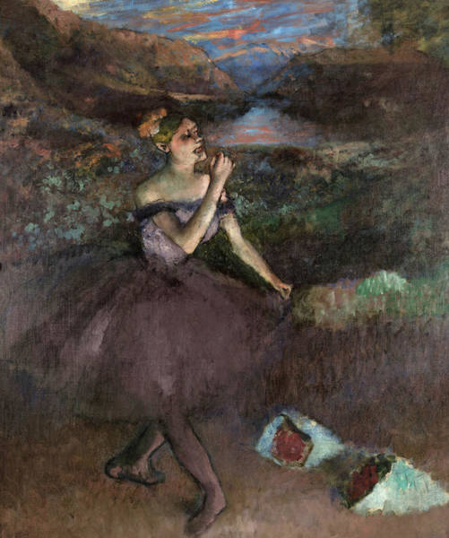 Wall Art - Painting - Dancer With Bouquets, 1900 by Edgar Degas