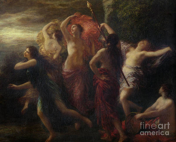 Wall Art - Painting - Dancers, 1891 by Ignace Henri Jean Fantin-Latour