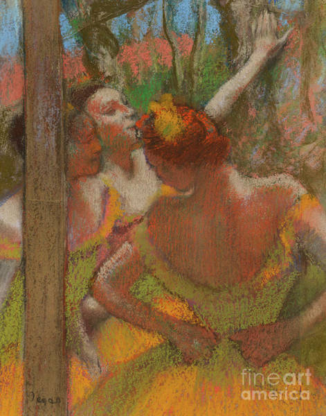 Wall Art - Pastel - Dancers, 1896, Pastel by Edgar Degas
