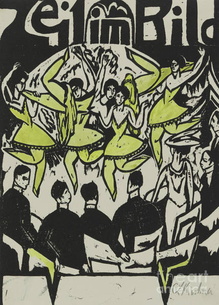 Wall Art - Painting - Dancers At The Ice Palace, 1912 by Ernst Ludwig Kirchner