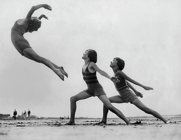 Mare Photograph - Dancers On The Beach by Fpg