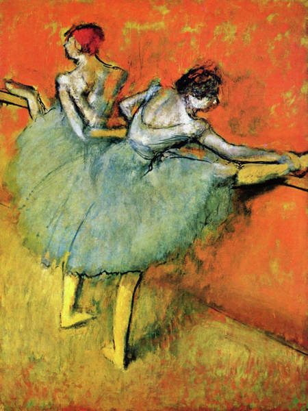 Wall Art - Painting - Dancers On The Pole - Digital Remastered Edition by Edgar Degas