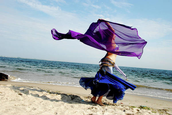 Belly Dancers Photograph - Dancing At The Beach by Srosh Anwar Photography