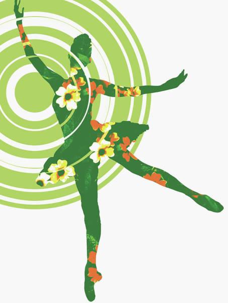 Digital Illustration Digital Art - Dancing Ballerina Decorated With Flowers by Nanette Hoogslag