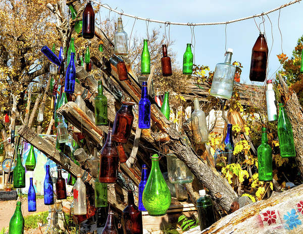 Wall Art - Photograph - Dancing Bottles On The Turquoise Trail by Kathleen Bishop