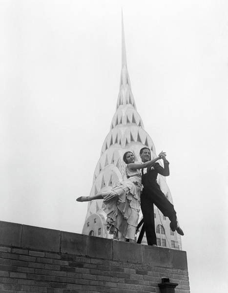 Photograph - Dancing By The Chrysler Building by Bettmann