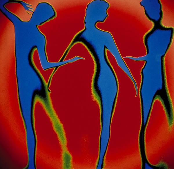 Representation Digital Art - Dancing Figures by Longcore Bill
