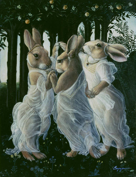 Botticelli Wall Art - Painting - Dancing Graces by Melinda Copper