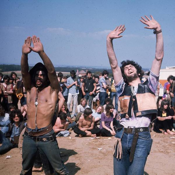 Dancing Photograph - Dancing Hippies by Keystone