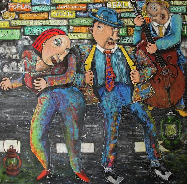 Mixed Media - Dancing In The Street by Robert Wolverton Jr