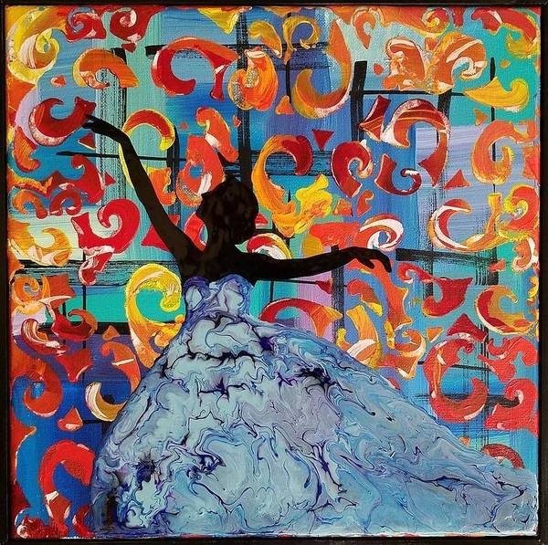 Wall Art - Painting - Dancing Lady by Jengineer