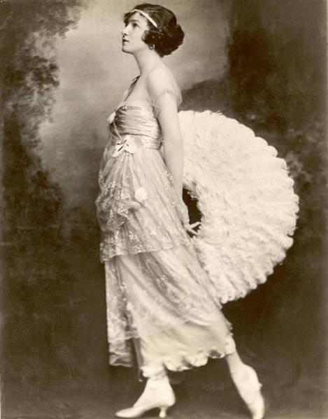Headband Photograph - Dancing Legend Irene Castle by Fpg