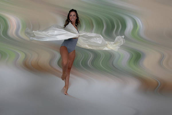 Photograph - Dancing Motion And White Chiffon by Dan Friend