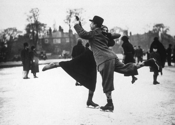 Dancing Photograph - Dancing On Ice by H. F. Davis