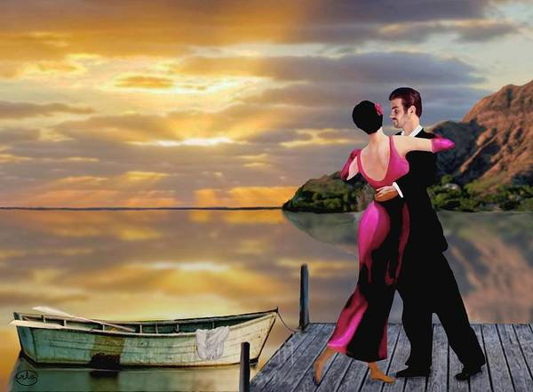 Wall Art - Painting - Dancing On The Dock by Ron Chambers