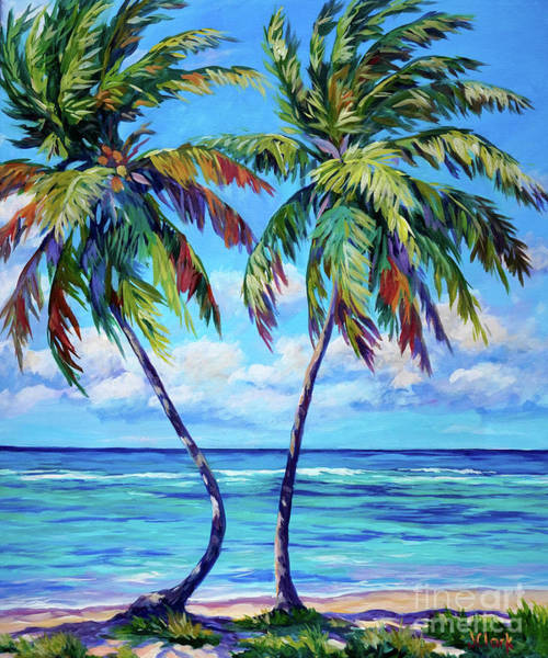 Hula Wall Art - Painting - Dancing Palm by John Clark