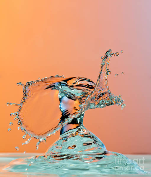 Wall Art - Photograph - Dancing Water Droplet High Speed by Circumnavigation
