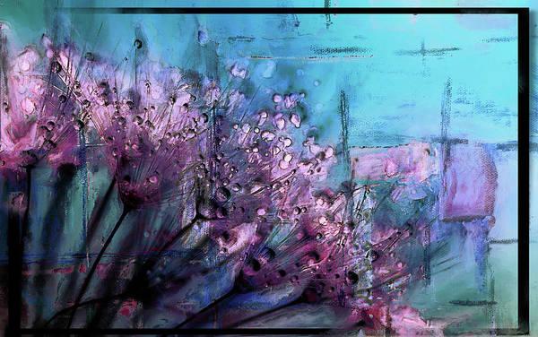 Purple Rain Digital Art - Dandelion Abstract by Tim Palmer