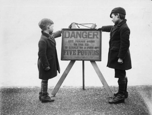 Danger Photograph - Danger Ice by S R Gaiger