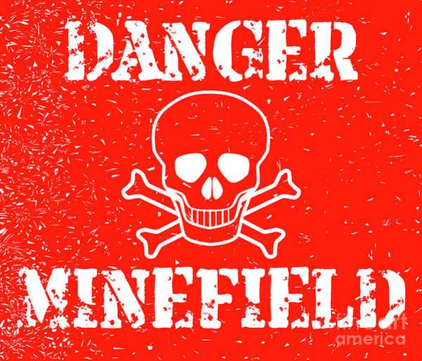 Detonation Digital Art - Danger Minefield by Bigalbaloo Stock