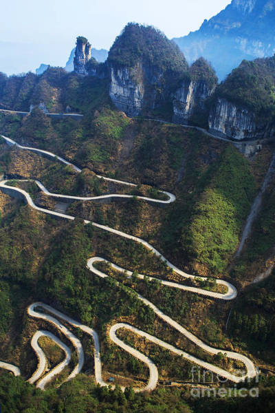Wall Art - Photograph - Dangerous Path In China by Kataleewan Intarachote