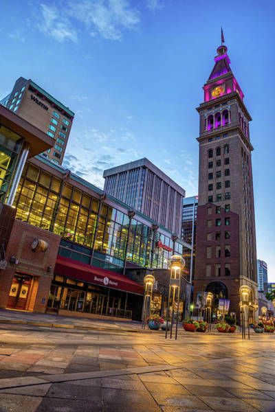 Photograph - Daniel And Fishers Tower At Dawn - Downtown Denver Colorado by Gregory Ballos
