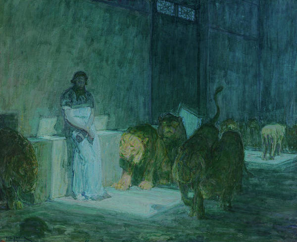 Wall Art - Painting - Daniel In The Lions' Den, 1918 by Henry Ossawa Tanner