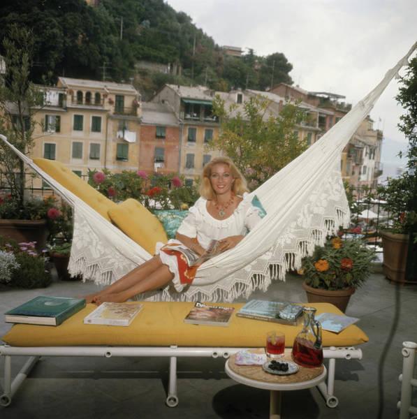 Adult Coloring Book Photograph - Daniela Cameli by Slim Aarons