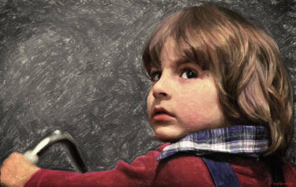 Serial Killer Painting - Danny Torrance by Zapista Zapista