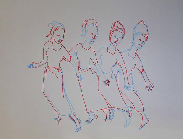 Painting - Danse Maradi Yan Mata Na Rawa Niger by Gloria Ssali