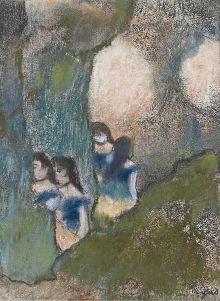 Drawing - Danseuses Dans La Coulisse by Edgar Degas