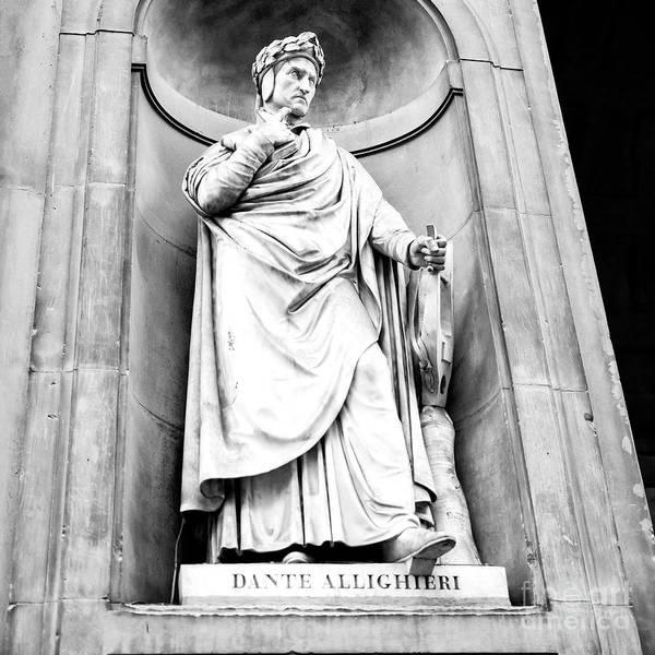 Photograph - Dante Uffizi Gallery Florence by John Rizzuto