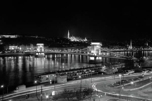 Photograph - Danube River At Night by Mark Duehmig
