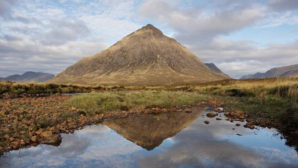 Photograph - Dappled Light On The Buachaille by Stephen Taylor